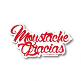 Moustache Gracias rouge | Sticker
